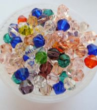Bicone bead mix. 4mm x 50